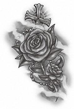 Роза на кресте